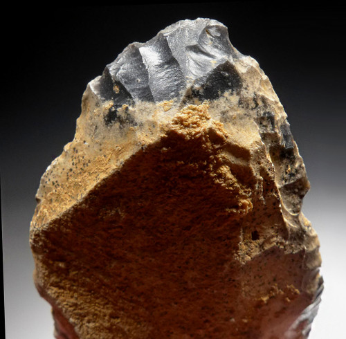 LARGE NEANDERTHAL MOUSTERIAN CONVERGENT SIDE SCRAPER FLAKE TOOL FROM DORDOGNE FRANCE  *M428