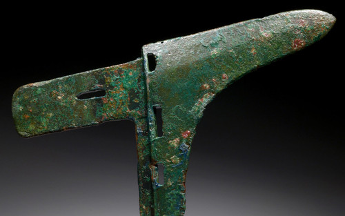 EXCEPTIONAL ANCIENT BRONZE GE DAGGER AXE HEAD FROM THE CHINA ZHOU DYNASTY  *SEA2