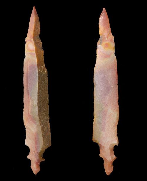 RARE EXCEPTIONALLY LONG CAPSIAN AFRICAN NEOLITHIC UNIFACIAL ARROWHEAD  *CAP325