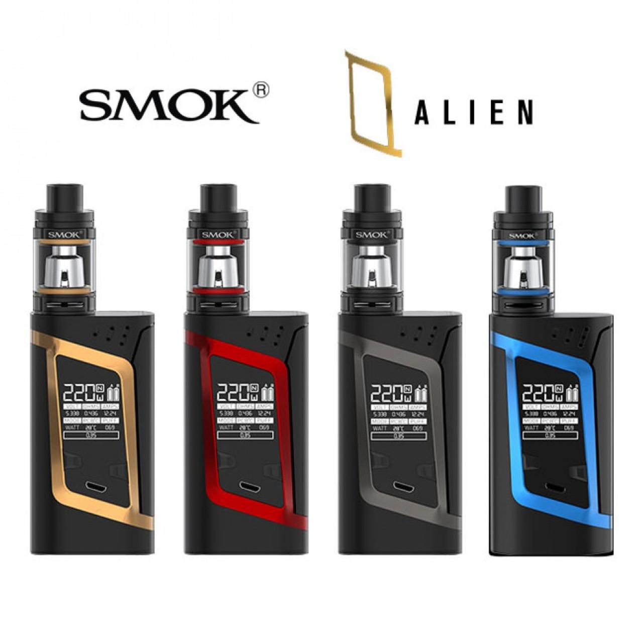 Alien 220W with TFV8 Baby Tank Kit | Smok | Black W/ Red