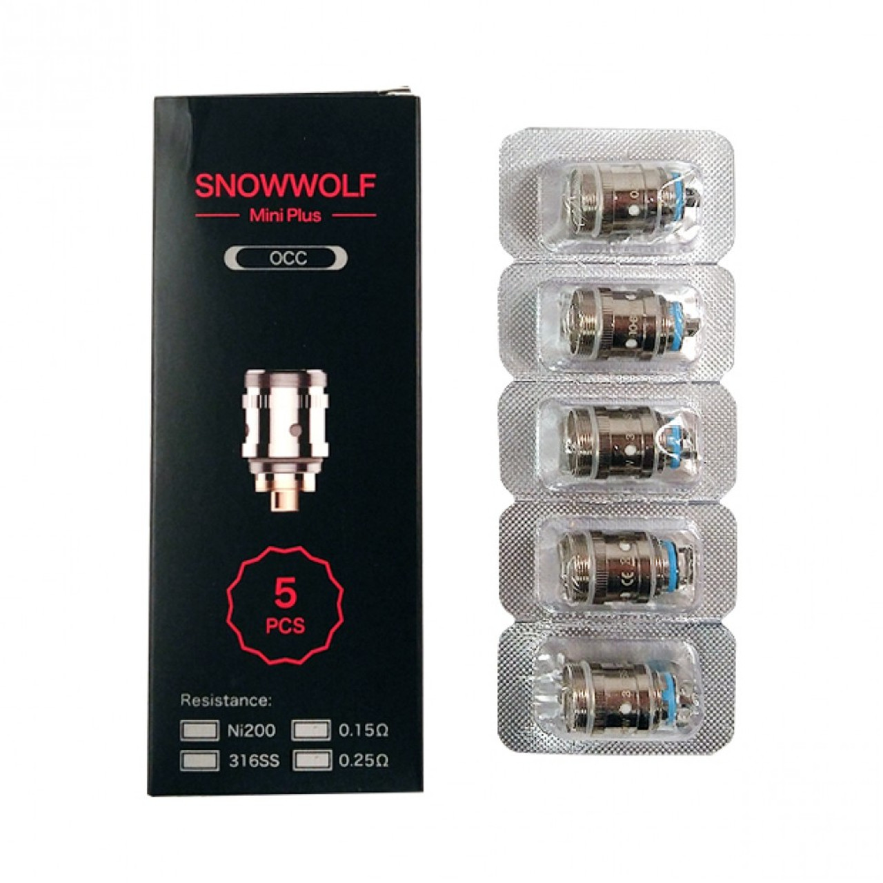 SnowWolf Mini Plus Coils [5-pk] | Laisimo | 0 25ohm