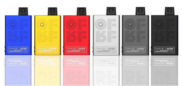 8 flavor Sample Pack Cloudy Crystal Salt 30mg (80ml total) + + FREE nexMESH Pod Kit | Smok & OFRF | Smok | 30W
