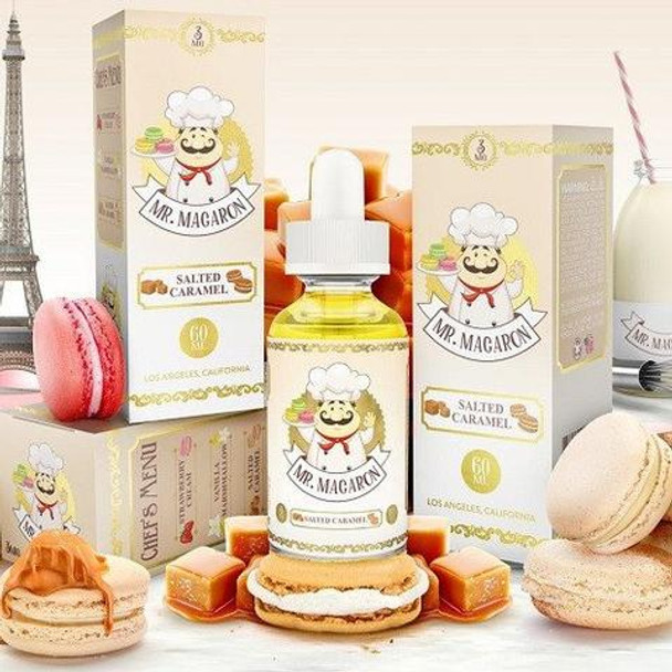 Salted Caramel | Mr. Macaron Dessert E-Liquid | 60ml (New!)