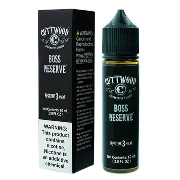 Boss Reserve | Cuttwood | 30ml-60ml-120ml options (New Chubby Bottle)