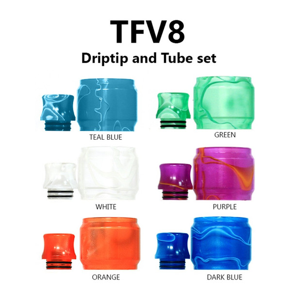 Replacement Tube & Driptip Set - For Smok TFV8