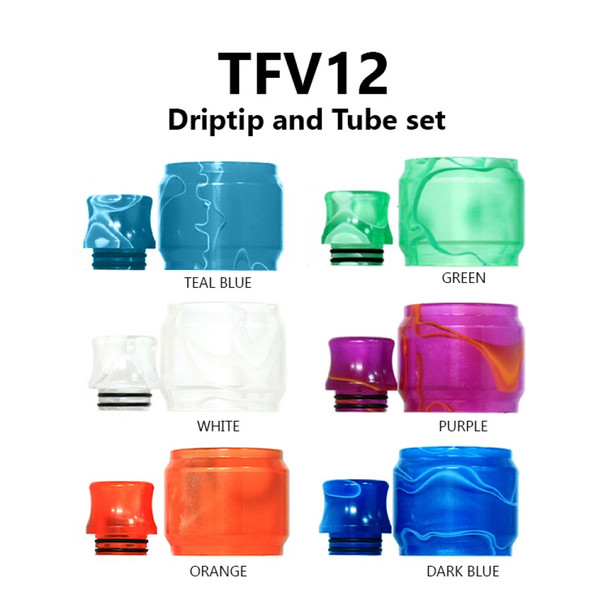 Replacement Tube & Driptip Set - For Smok TFV12
