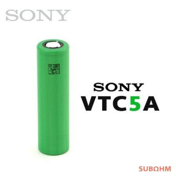 18650 AUTHENTIC Sony VTC5A Battery 5A | 2600mAh 25A IMR | Flat-Top | sony