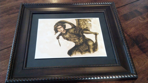 St. Michael the Archangel by Patrick Campbell , print only no picture frame included