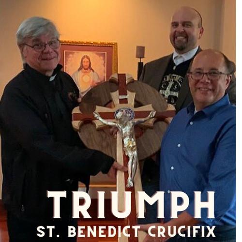 Presidential St. Benedict Celtic Crucifix