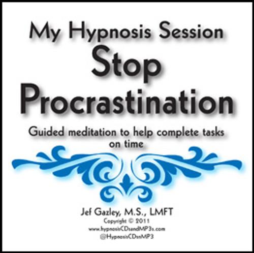Stop Procrastination Hypnosis CD