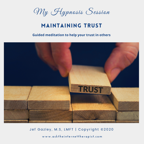 Maintaining Trust Hypnosis CD