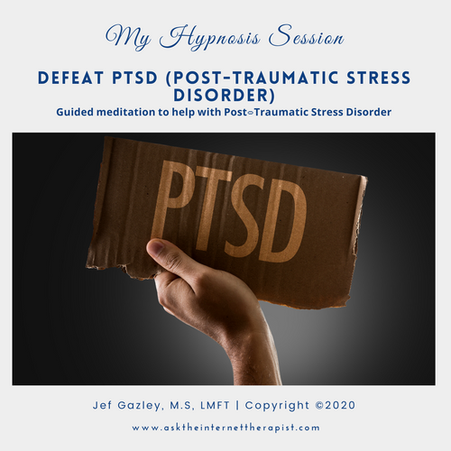 Defeat PTSD (Post Traumatic Stress Disorder) Hypnosis CD