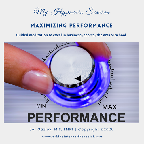 Maximizing Performance Hypnosis CD
