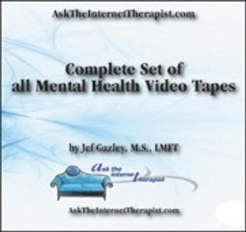AskTheInternetTherapist.com Mental Health Educational Video Tape Set - 7 videos (VHS)