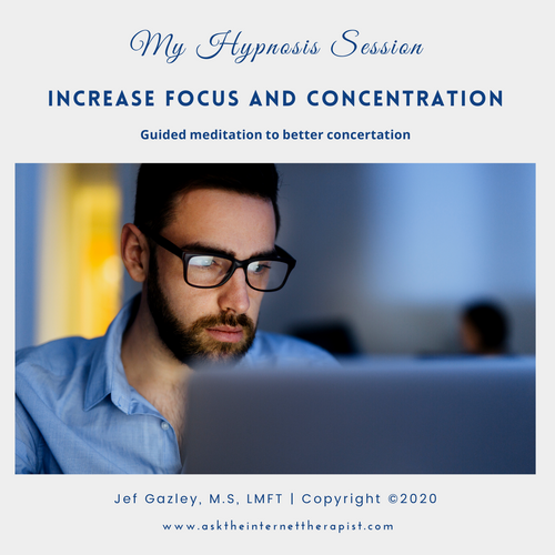 Increase Focus and Concentration Hypnosis CD