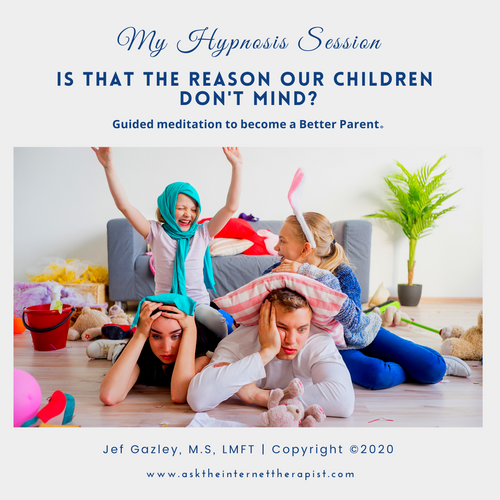 Is that the reason our children don't mind? (MP3)
