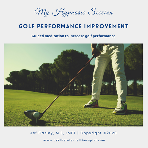 Golf Performance Improvement Hypnosis CD