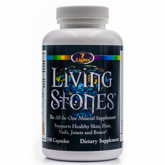 LIVING STONES COMPLETE MINERAL PROFILE WITH ZINC, MAGNESIUM, CALCIUM, TRACE MINERALS AND MORE!  (180 V-CAPS - 30-DAY SUPPLY)