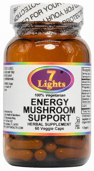 ENERGY MUSHROOM SUPPORT - WITH HERBS AND COQ10 (60 V-CAPS)