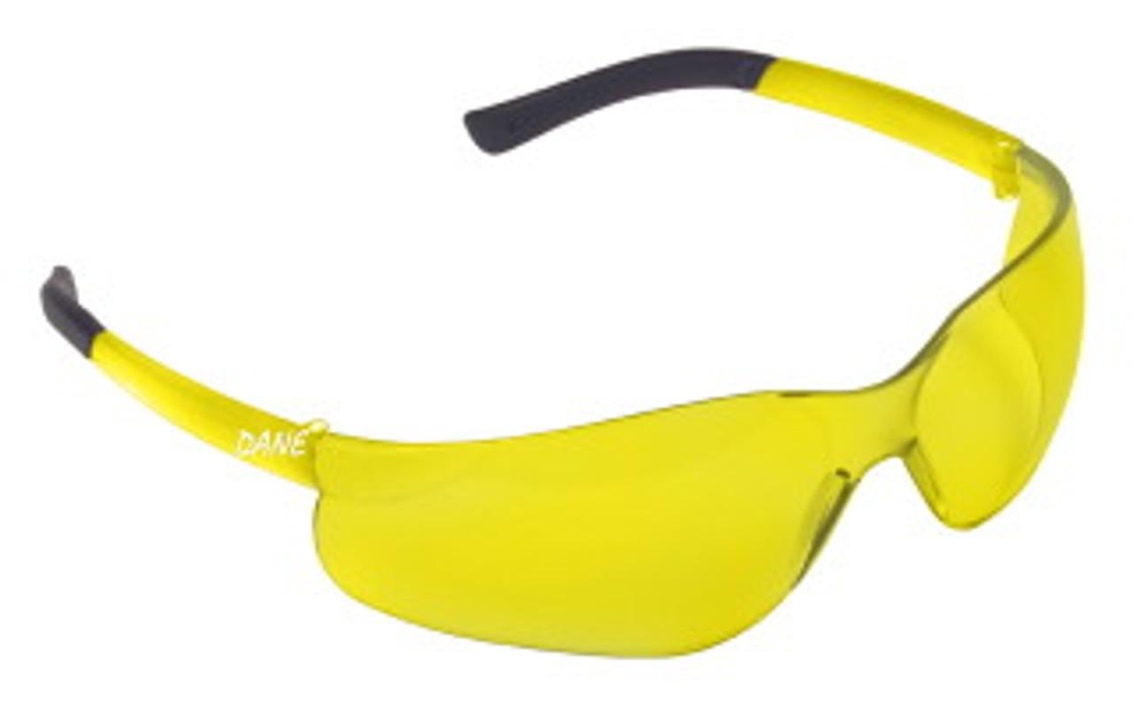 EL30S: Dane Amber Lens Safety Glasses - 12 Pack
