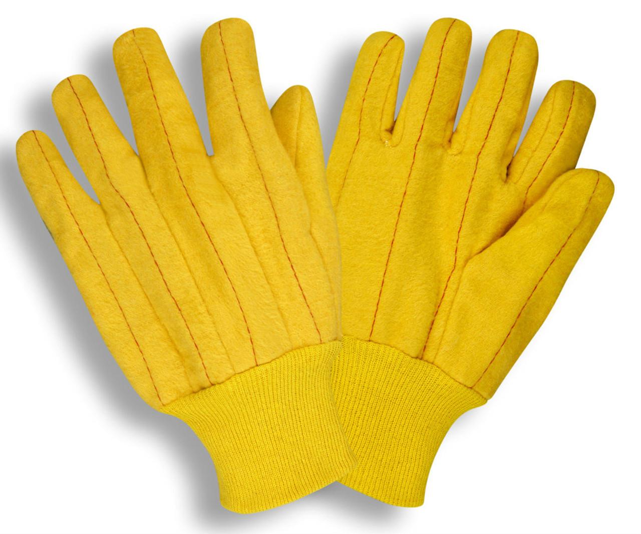 2318: Yellow Full Chore Gloves - 12 Pack