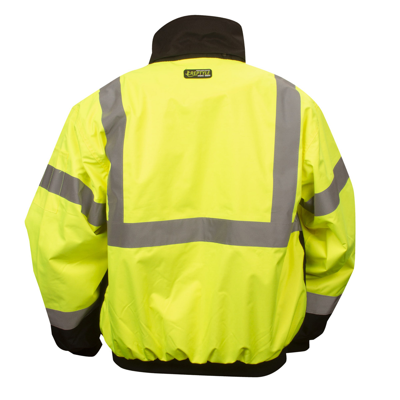 J201: Lime Class III Reptyle 2-in-1 Bomber Jacket Back