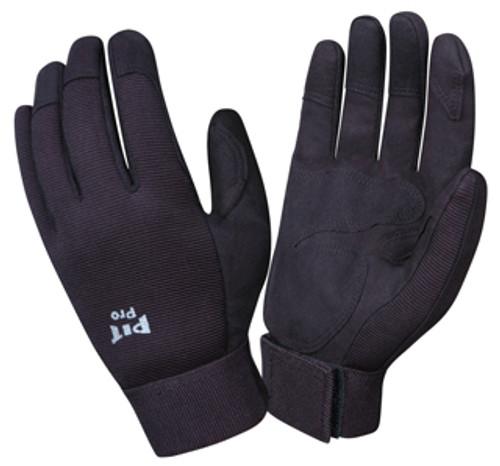 77871: Pit Pro Black Double Palm/Black Back Gloves