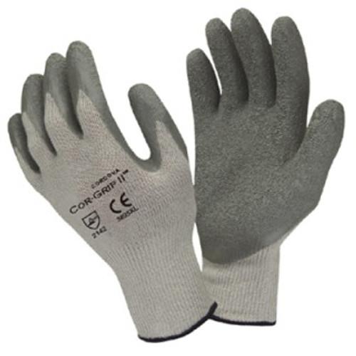 3895: CorGrip II/ Latex Palm Coated Gloves - 12 Pack
