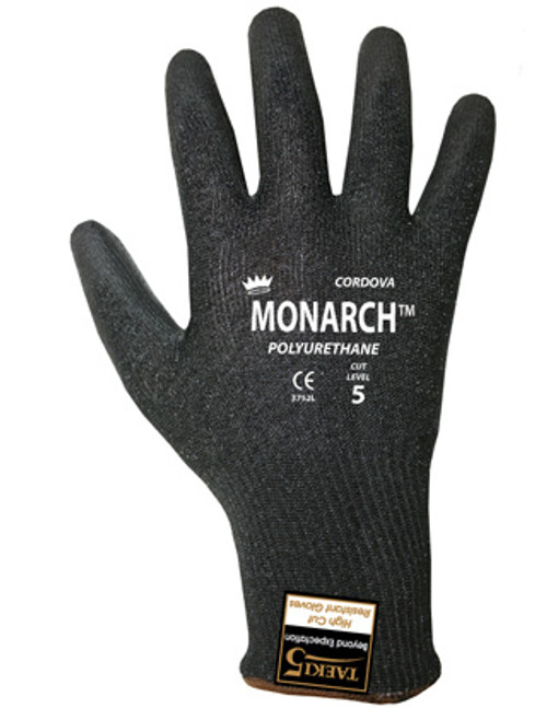 3752: Cordova Monarch - Black PU Cut Resistant Gloves
