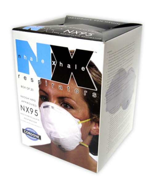 NX95: Niosh Approved Class 95 Particulate Respirator - 20 Pack