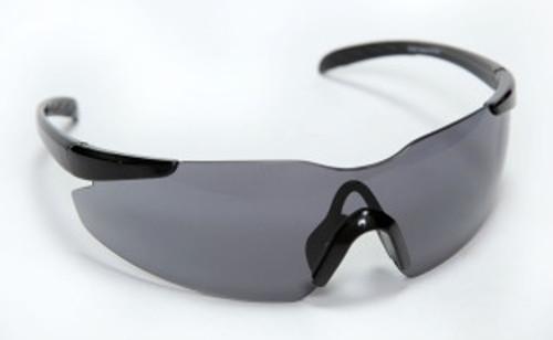 E01B20: Opticor Frameless, Gray Lens Safety Glasses - 12 Pack