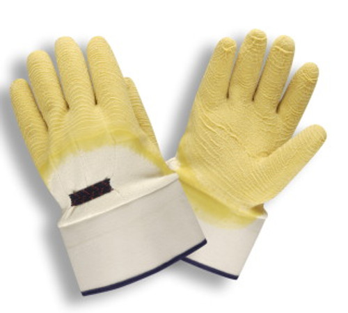 5605: Premium/Jersey Lined Latex Gloves - 12 Pack