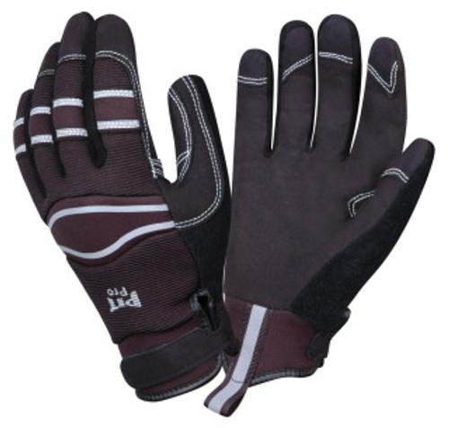77171: Pit Pro Black Palm/Black Back Gloves