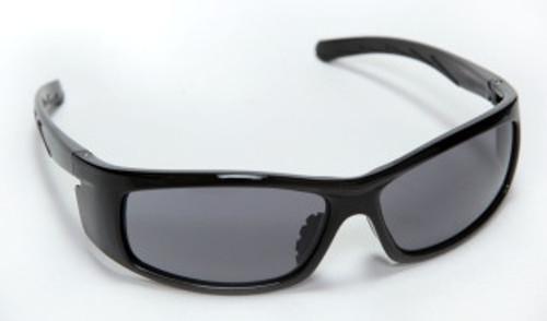 E02B20: Vendetta Gray Lens, Shiny Black Frame Safety Glasses - 12 Pack