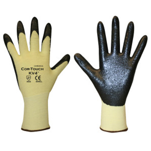 3055C: Cor-Touch KV4 Kevlar/ Lycra Shell Foam Palm Coated Gloves ƒ?? 12 Pack