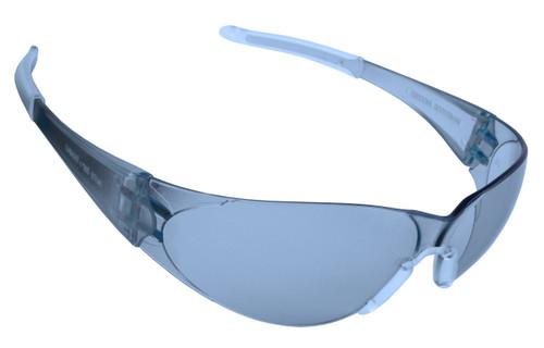 ENF15S: Doberman Light Blue Frosted Frame Safety Glasses
