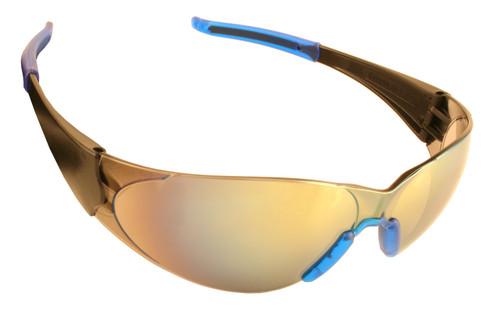 ENB70S: Doberman Silver Mirror Lens Safety Glasses