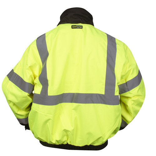 J301: Lime Class III Reptyle 3-in-1 Bomber Jacket Back