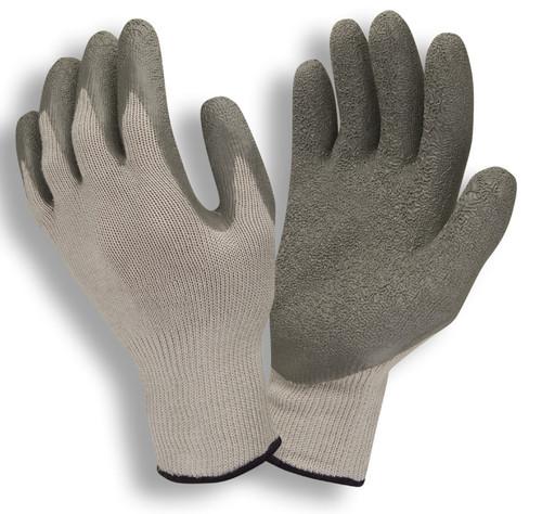 3897: Economy Gray Shell/Gray Crinkle Latex Coating String Knit Gloves