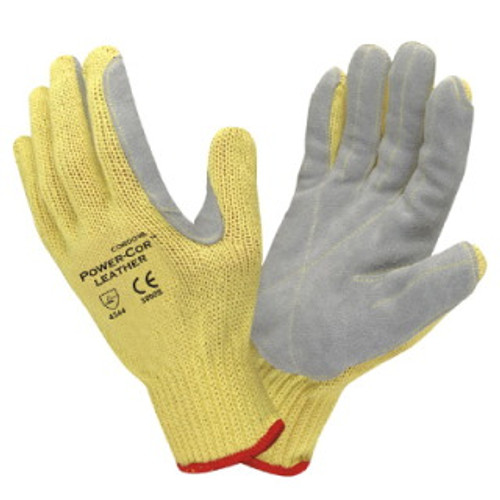 3090: Cordova Power-Cor/Leather/Kevlar String Knit Gloves - 12 Pack