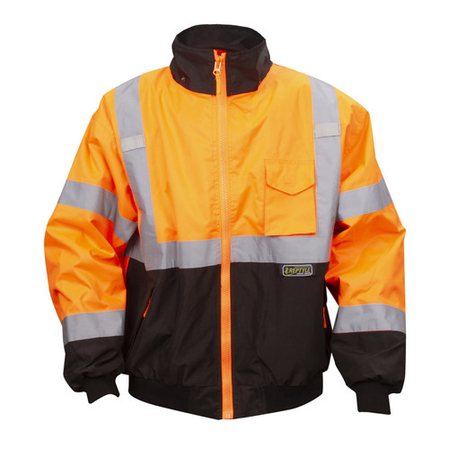 J200: Orange Class III Reptyle 2-in-1 Bomber Jacket Front