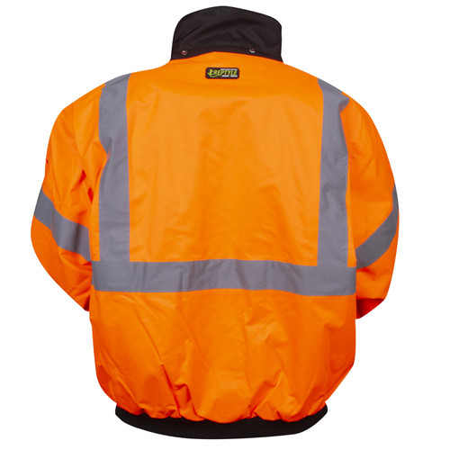 J200: Orange Class III Reptyle 2-in-1 Bomber Jacket Back