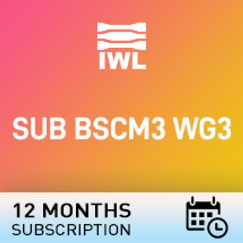SUB BSCM3 WG3
