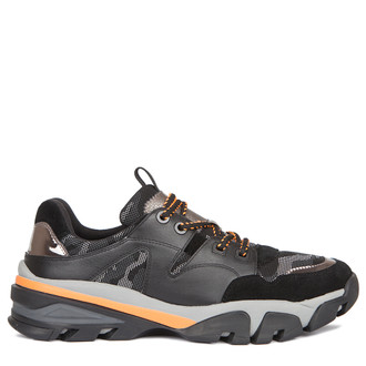 Men's Hybrid Trainers with Camouflage Print GB 7217039 BLO