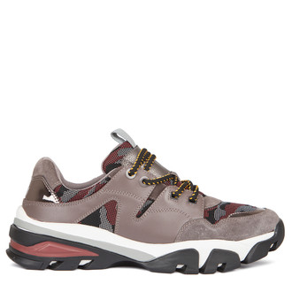 Men's Mixed Material Chunky Trainers GB 7217039 GRM