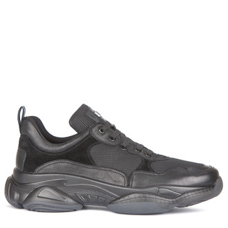 Men's Urban Sneakers in Suede, Nubuck and Technical Fabric GL 7216139 BLK