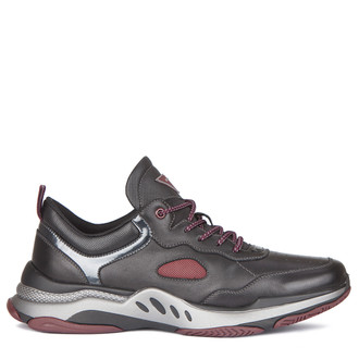 Men's Running-Inspired Leather Trainers GL 7220119 BLD