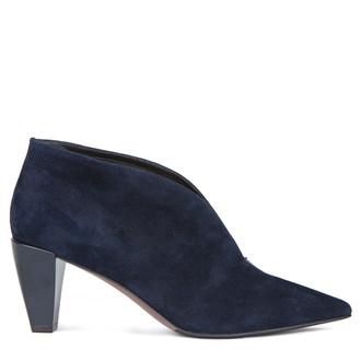 Women's Dark Blue Suede Ankle Boots GJ 5268819 NVS