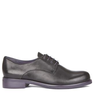 Women's Classic Black Smooth Leather Derbies GP 5218119 BLX