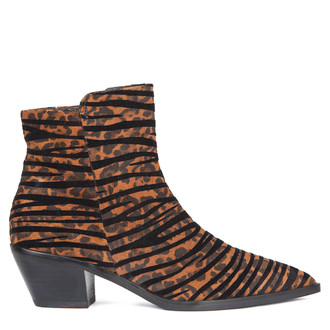 Women's Leopard and Tiger Print Suede Boots GP 5346019 LEO